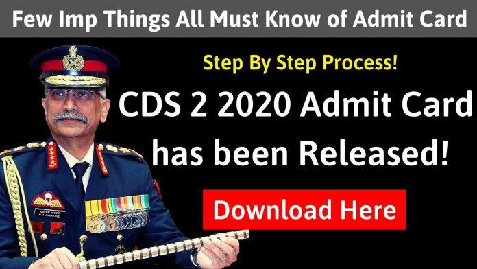 CDS Admit Card 2020