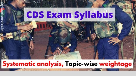 CDS Exam syllabus