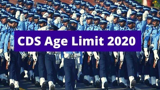 CDS Age Limit 2020