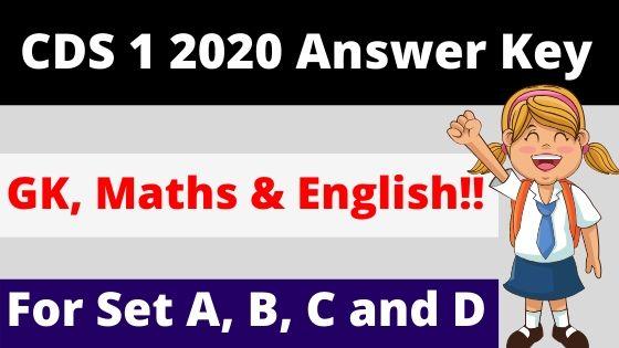 CDS 1 2020 Answer key