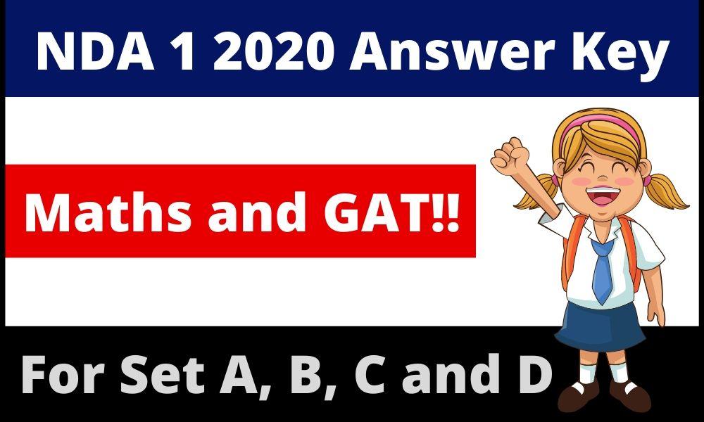 NDA 1 2020 Answer key