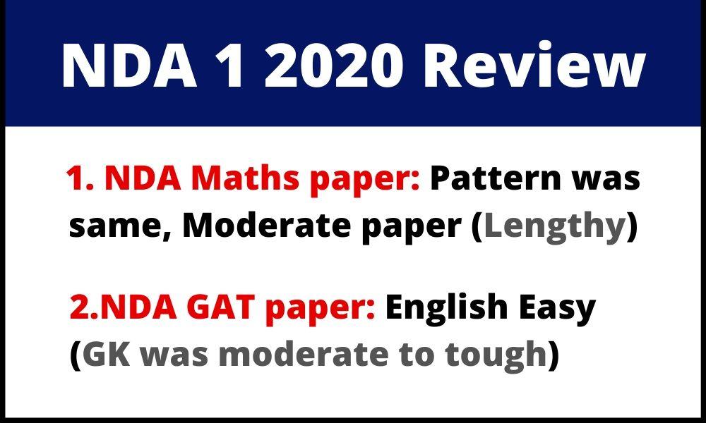 NDA 1 2020 paper review