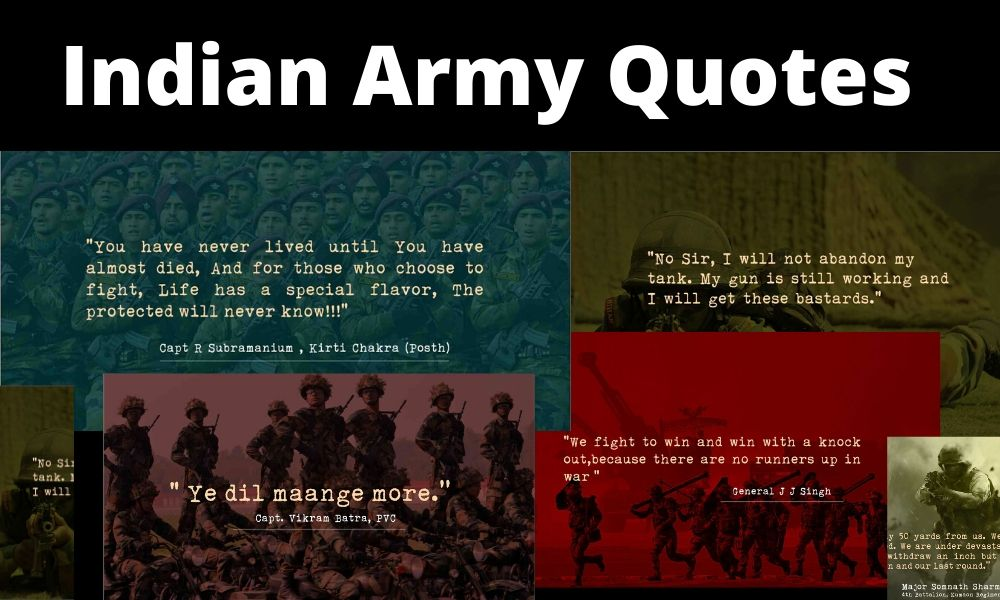 Indian Army Quotes emotional