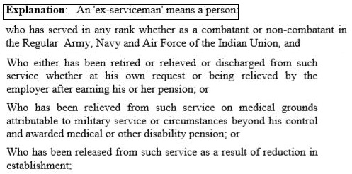 SSC CGL Eligibility Ex Servicemen