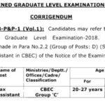 SSC CGL Tax Assistant Age Limit