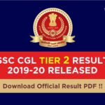 SSC CGL Result Tier 2