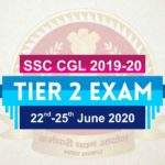 SSC CGL Tier 2 Exam Date 2019