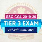 SSC CGL Tier 3 Exam Date 2020