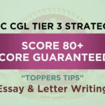 SSC CGL Tier 3 Strategy