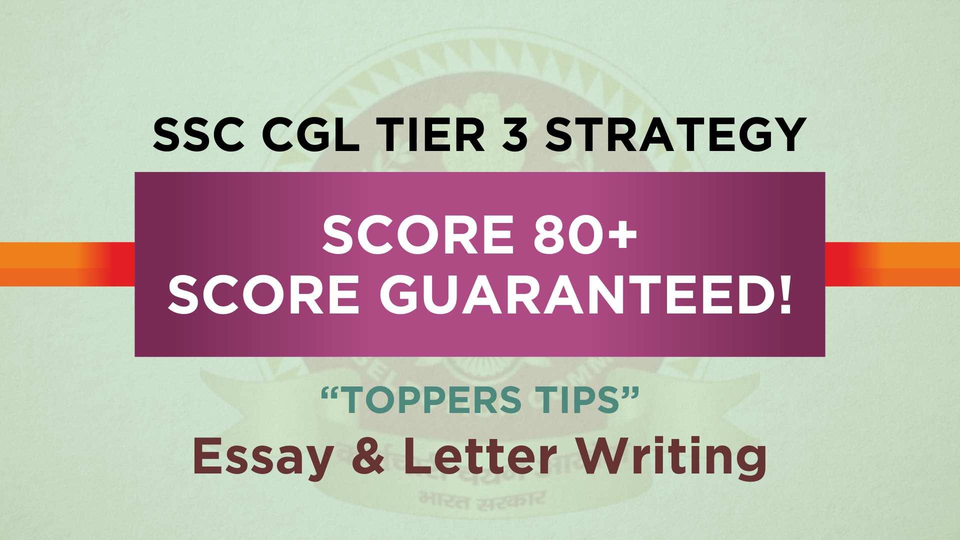 SSC CGL Tier 3 Exam pattern