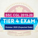 SSC CGL Tier 4 Exam Date 2019-20