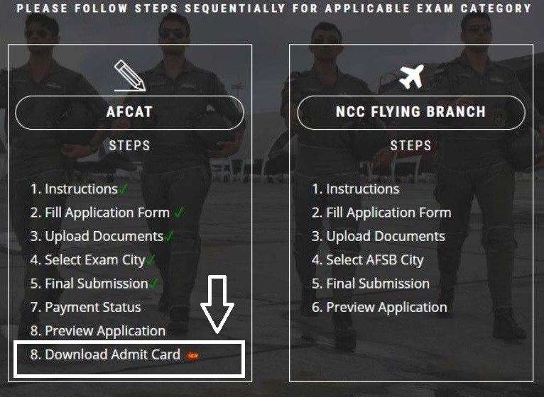 AFCAT Exam Home Page