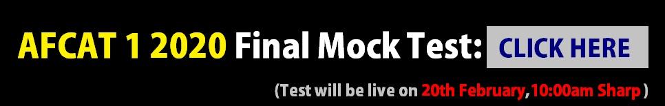 AFCAT Mock Test 2020