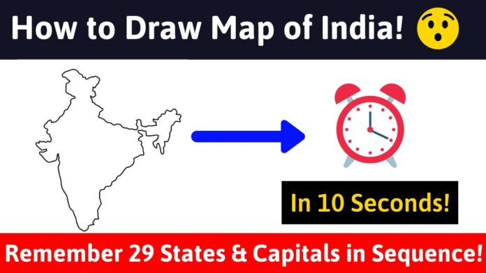 How to Draw Map of India in 10 Seconds