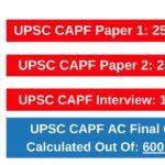 UPSC CAPF Exam Pattern