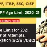 CAPF Age Limit 2021
