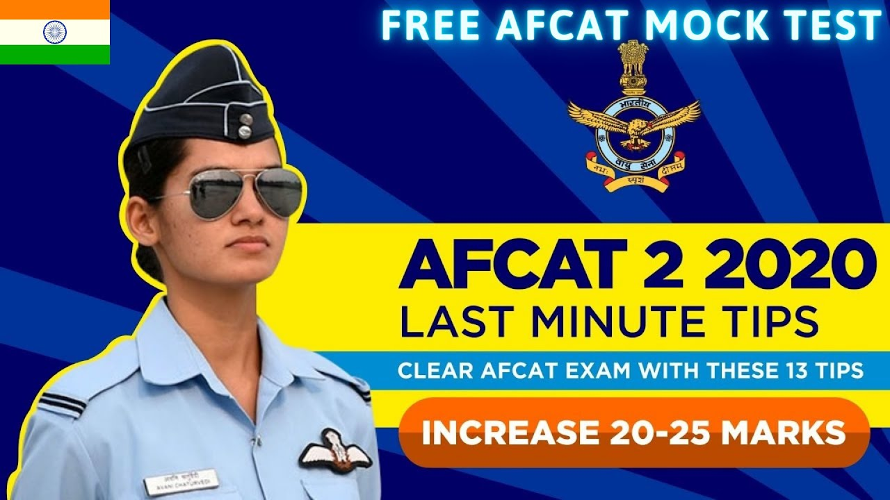 Last Minute Tips for AFCAT Exam